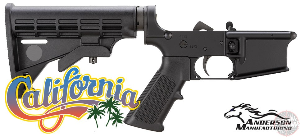 California Compliant Complete AR-15 Lower Receiver SALE