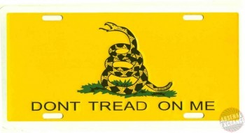 Don't Tread On Me Car Tags