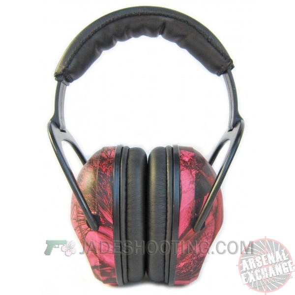 Pro Ears Ultra Sleek Shooting Ear Muffs - Pink Camo - NRR 26