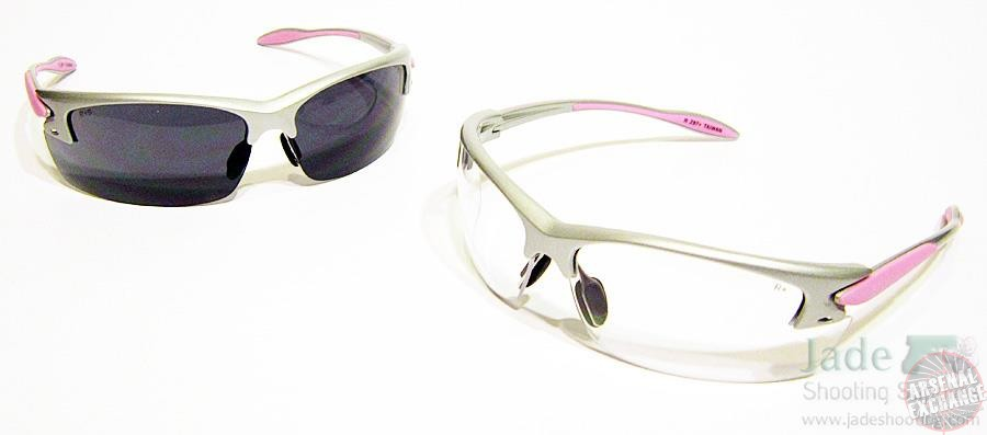 Radians Women's Pink Shooting Glasses - Clear and Smoke Lens