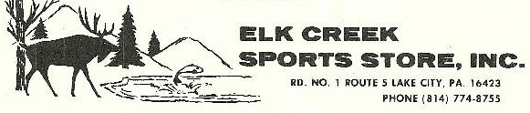 Elk Creek Sports Store Inc., Lake City, PA